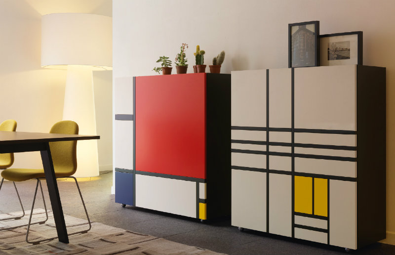 salone del mobile The Best Cabinet Exhibitors at Salone del Mobile 2018 homage to mondrian gallery02