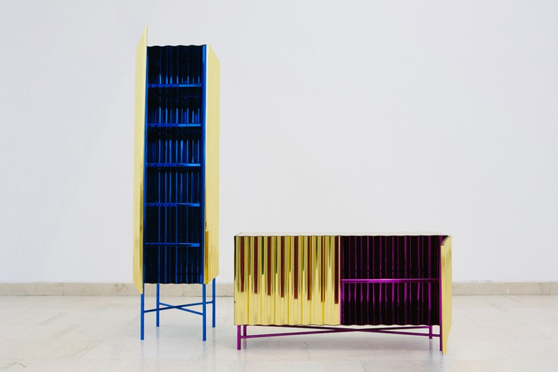 unique designs Unique Designs Unique Designs: Gold-chrome Cabinet and Console by Lanzavecchia + Wai 2 Steel Furniture