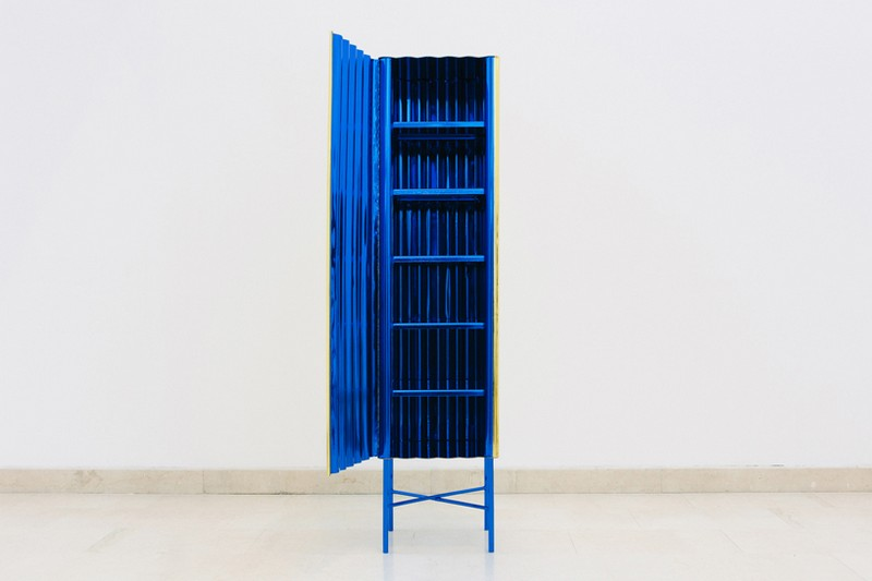 Unique Designs Unique Designs: Gold-chrome Cabinet and Console by Lanzavecchia + Wai 6 Steel Furniture