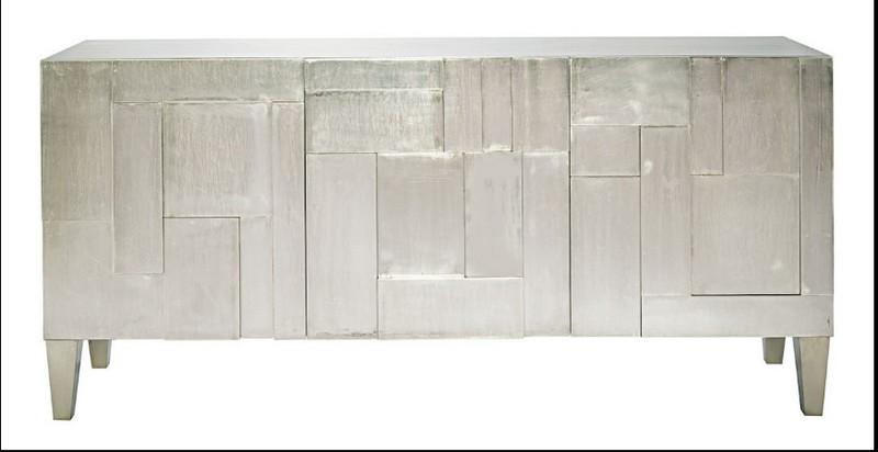 Cabinet Designs 10 Amazing Silver Cabinet Designs for a Luxury Decor 9 CARLA MEDIA CABINET SILVER