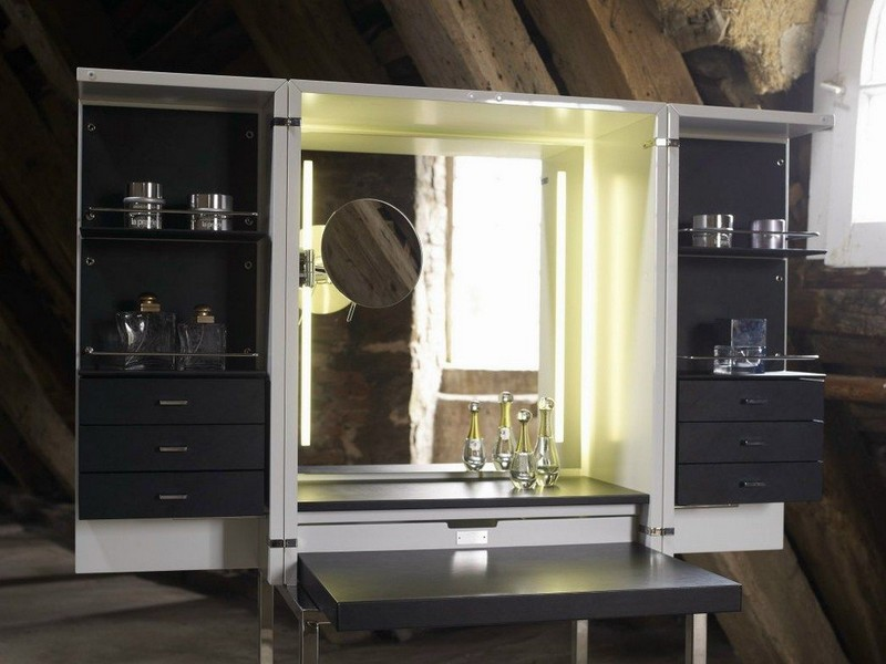 cabinet design Cabinet Design Amazing Modern Dressing Cabinet Design by Yomei 9 Corner placed dressign table