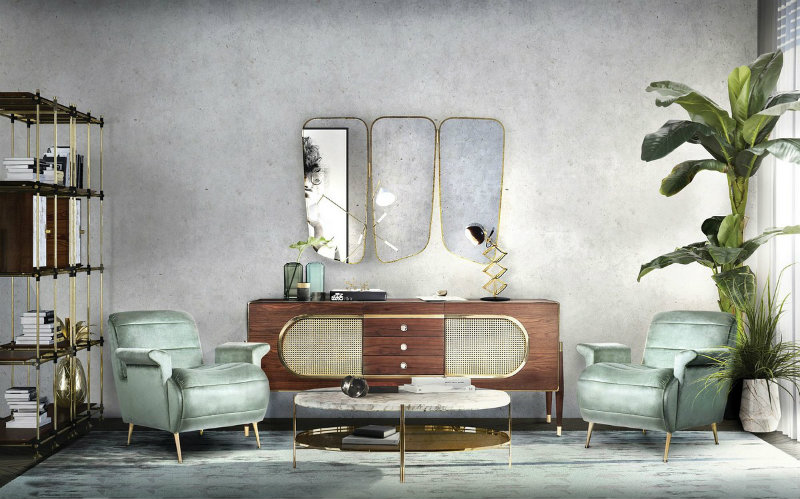 summer trends Sideboards And Cabinets For This Spring/Summer Trends Midcentury modern living room decor from Essential Home