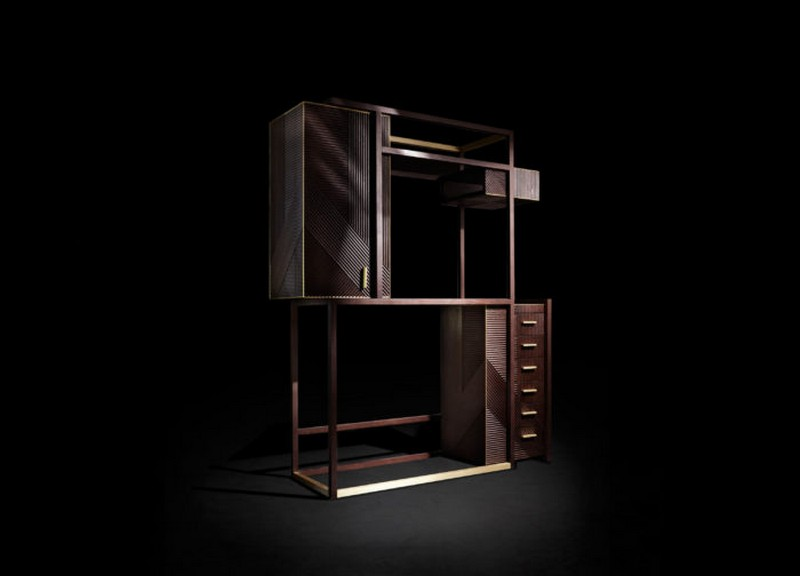 Rossato rossato The Amazing Hampton Cabinet Design by Rossato 01 Hampton display cabinet is also an art work with a balance between empty and filled with chic finishes and eye catchy shapes