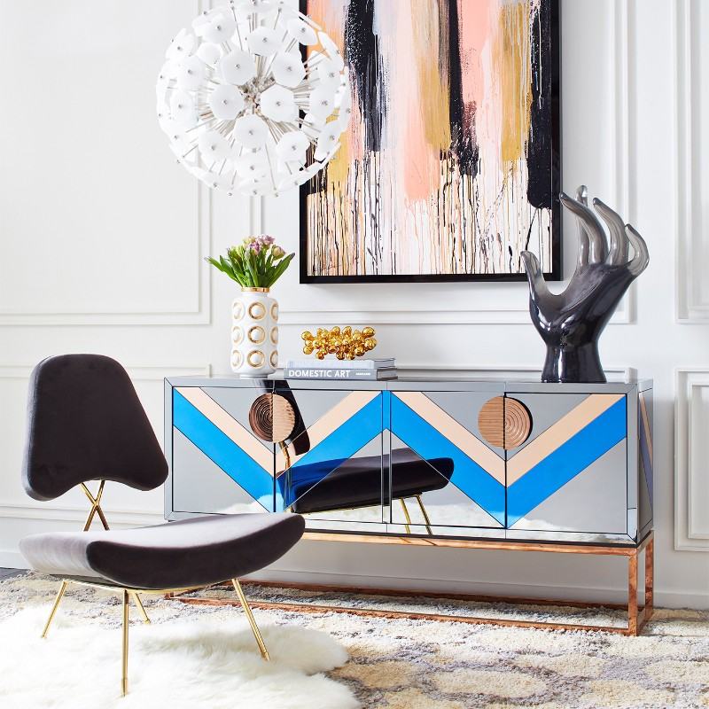credenza Discover the most Colorful Credenzas by Jonathan Adler Buffets and Cabinets Discover the Most Colorful Designs by Jonathan Adler 3