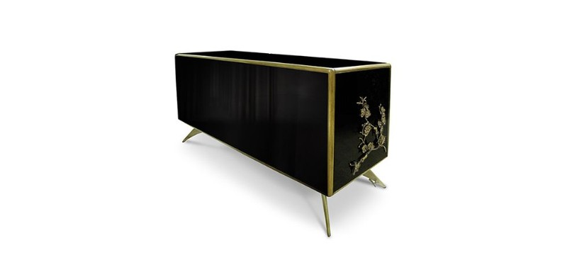 buffets and cabinets, exclusive design, buffets and sideboards, cabinet design, sideboards, sideboard design, black and gold, luxury, gold and black home décor The Best Black and Gold Sideboards for Your Home Décor Buffets and Cabinets The Best Black and Gold Sideboards for Your Home D  cor 1