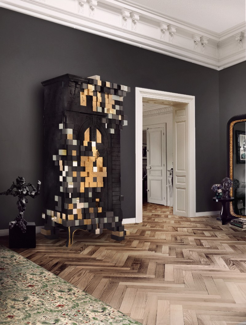 cabinet Magnificent Piccadilly Cabinet for a Colorful Touch in Your Room Picadilly Cabinet Black by Boca do Lobo
