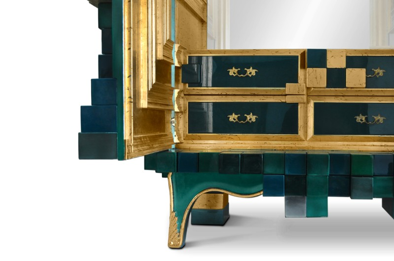 cabinet Magnificent Piccadilly Cabinet for a Colorful Touch in Your Room Picadilly Cabinet Electric Green by Boca do Lobo 02