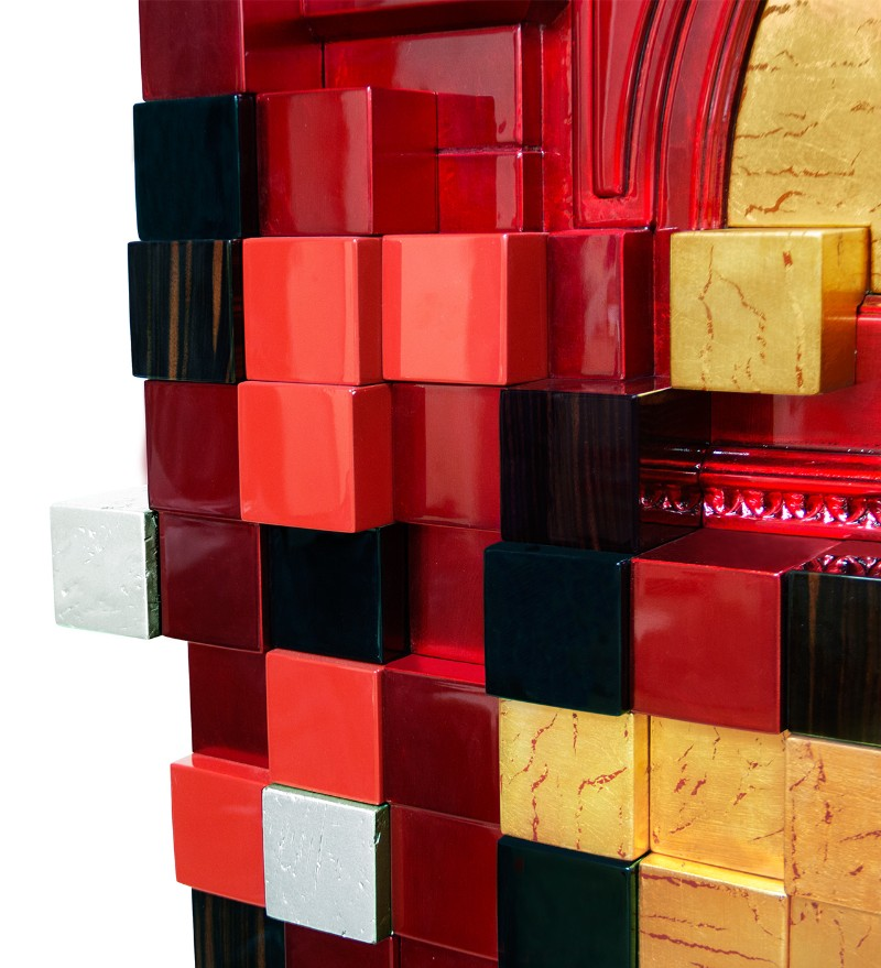 cabinet Magnificent Piccadilly Cabinet for a Colorful Touch in Your Room Picadilly Cabinet Red by Boca do Lobo 01