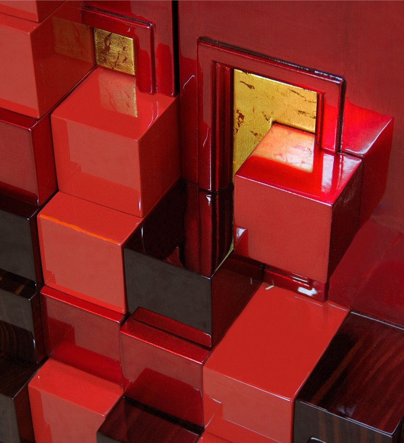 cabinet Magnificent Piccadilly Cabinet for a Colorful Touch in Your Room Picadilly Cabinet Red by Boca do Lobo 02