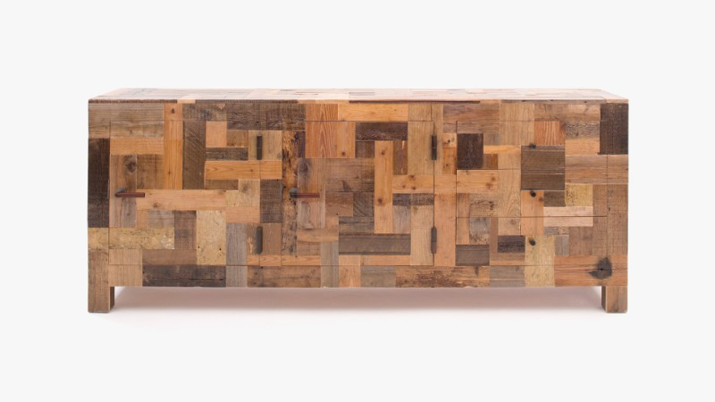 Unique Designs: Cabinets with Scrap Wood by Piet Hein Eek