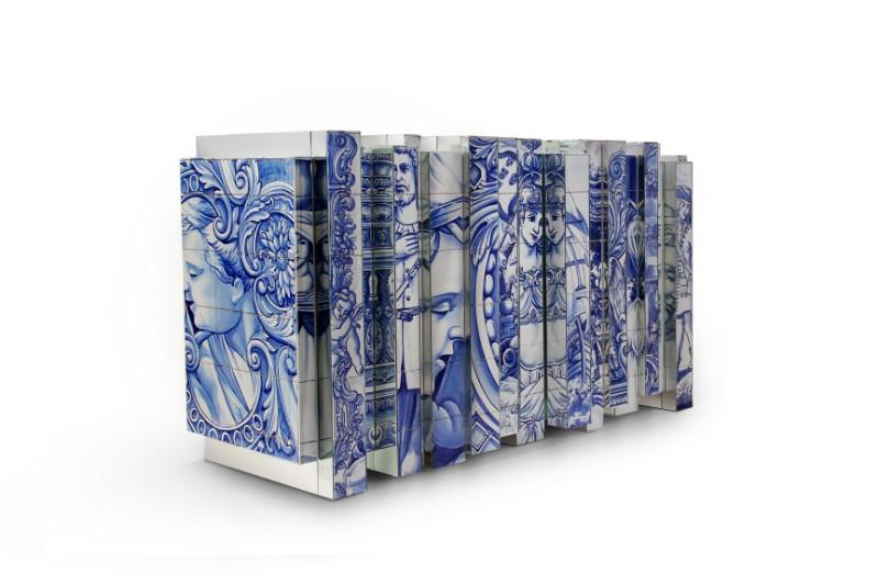 exclusive furniture Arts & Crafts Behind Boca do Lobo's Exclusive Furniture: Azulejo heritage sideboard 02