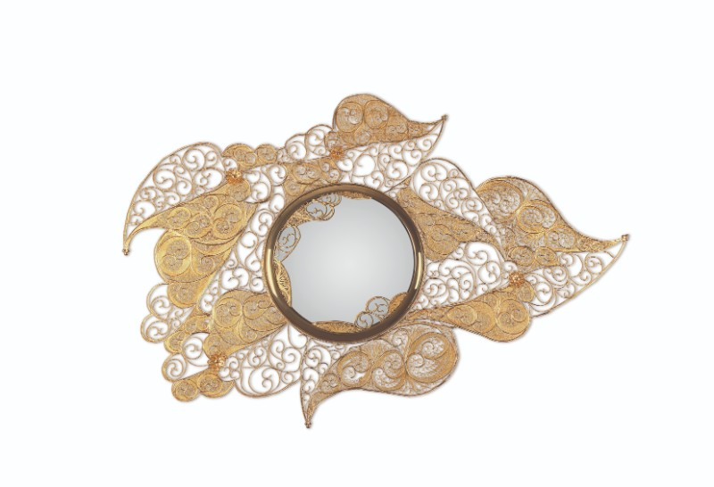 craftsmanship Homo Faber: European Craftsmanship in Venice Filigree Mirror by Boca do Lobo 1