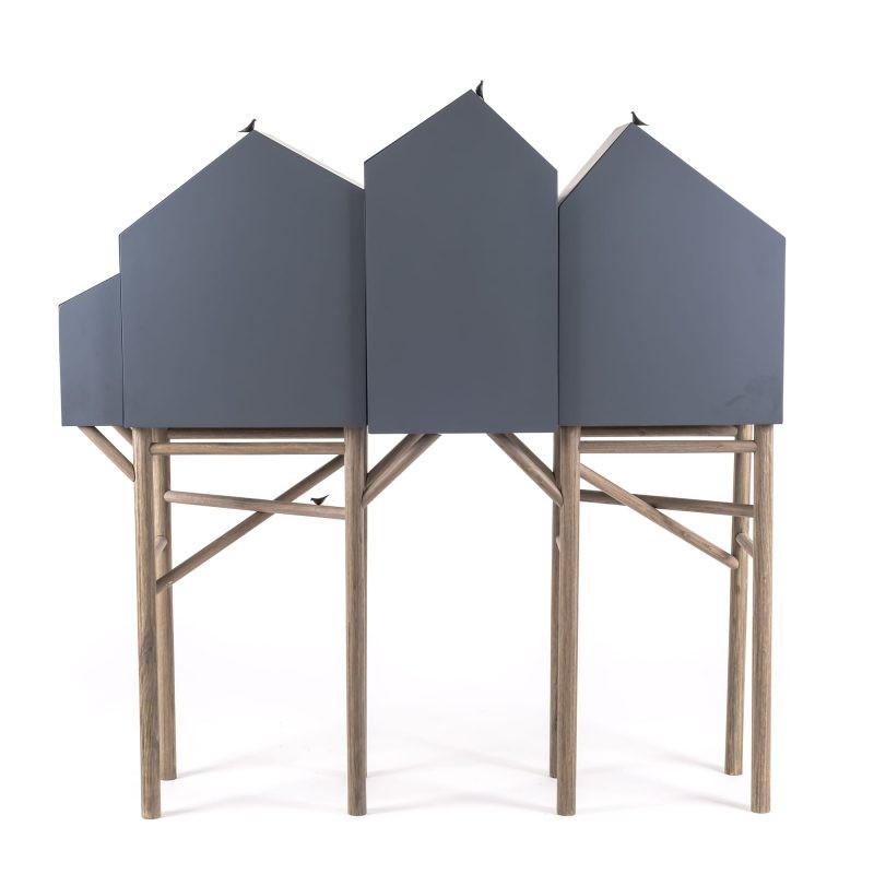 geometric design Buffets and Cabinets with a Geometric Design Seletti Palafitt
