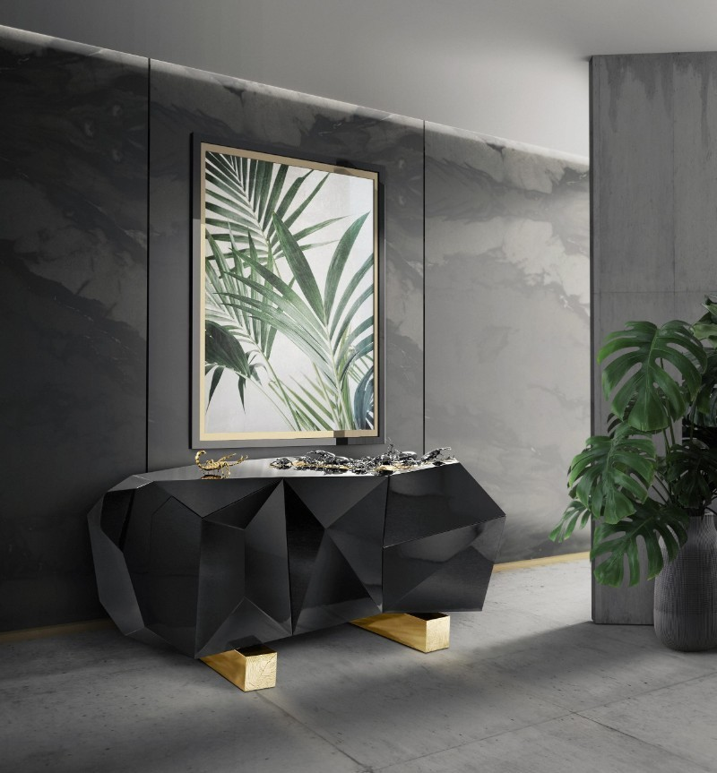buffets and cabinets, exclusive design, Luxury brands, buffets, sideboards, luxurious design, nature inspired, inspired by nature luxurious design Discover 10 Nature Inspired Sideboard With A Luxurious Design ambience diamond metamorphosis bocadolobo