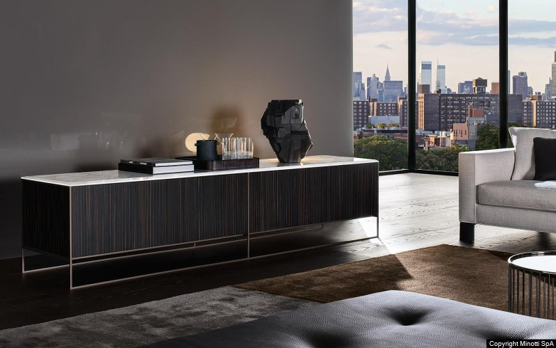 contemporary sideboards, modern sideboard, luxury furniture, bedroom décor ideas, bedroom design ideas, sideboard, interior design, luxury brands, contemporary sideboards The Most Contemporary Sideboards For A Bedroom calder bronze sideboard minotti
