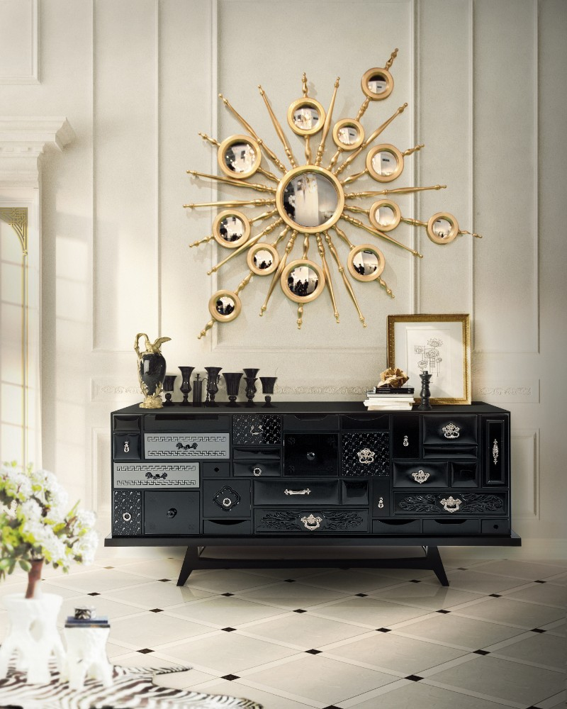 modern sideboard 10 Tips on How to Stylish your Modern Sideboard mondrian black bocadolobo