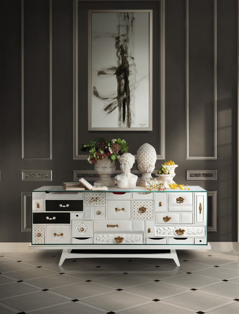 modern sideboard 10 Tips on How to Stylish your Modern Sideboard mondrian white bocadolobo