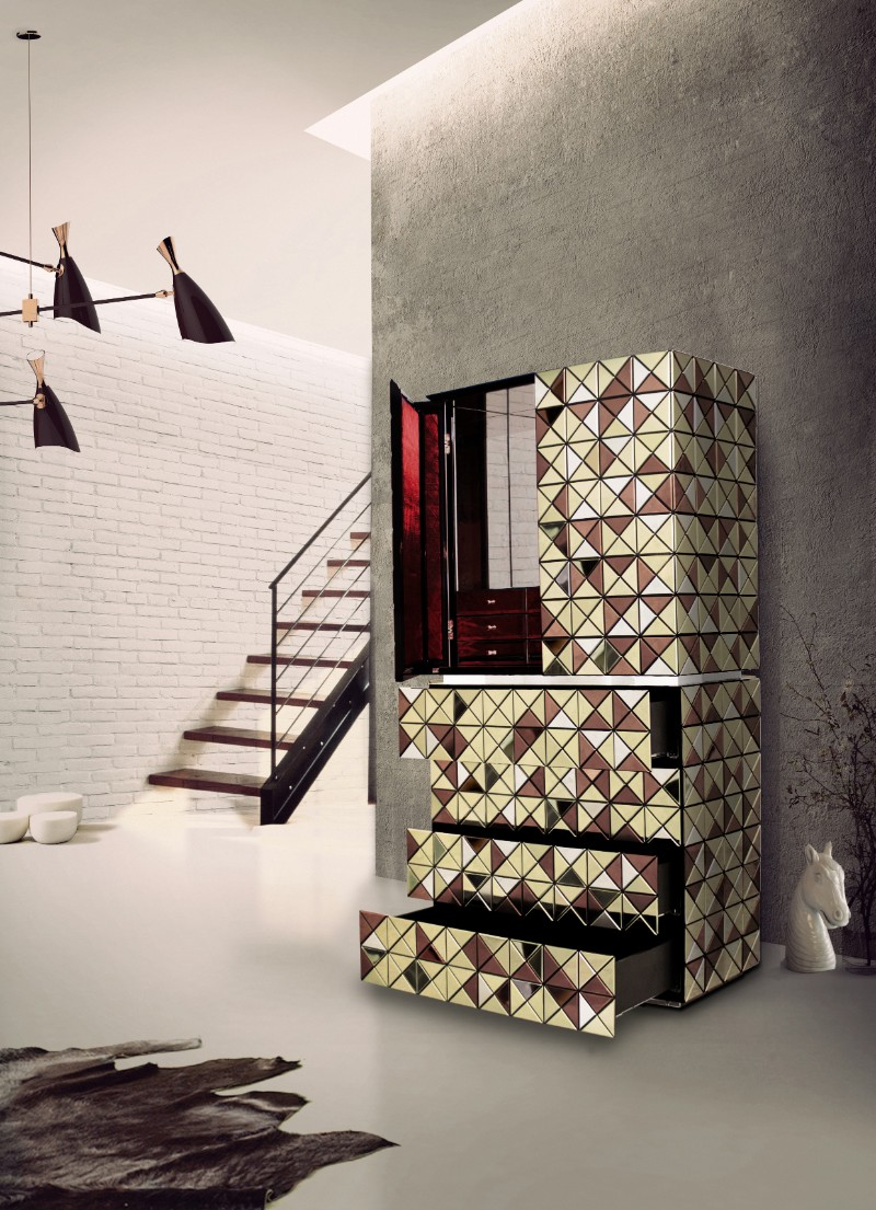 geometric design Buffets and Cabinets with a Geometric Design pixel adonized