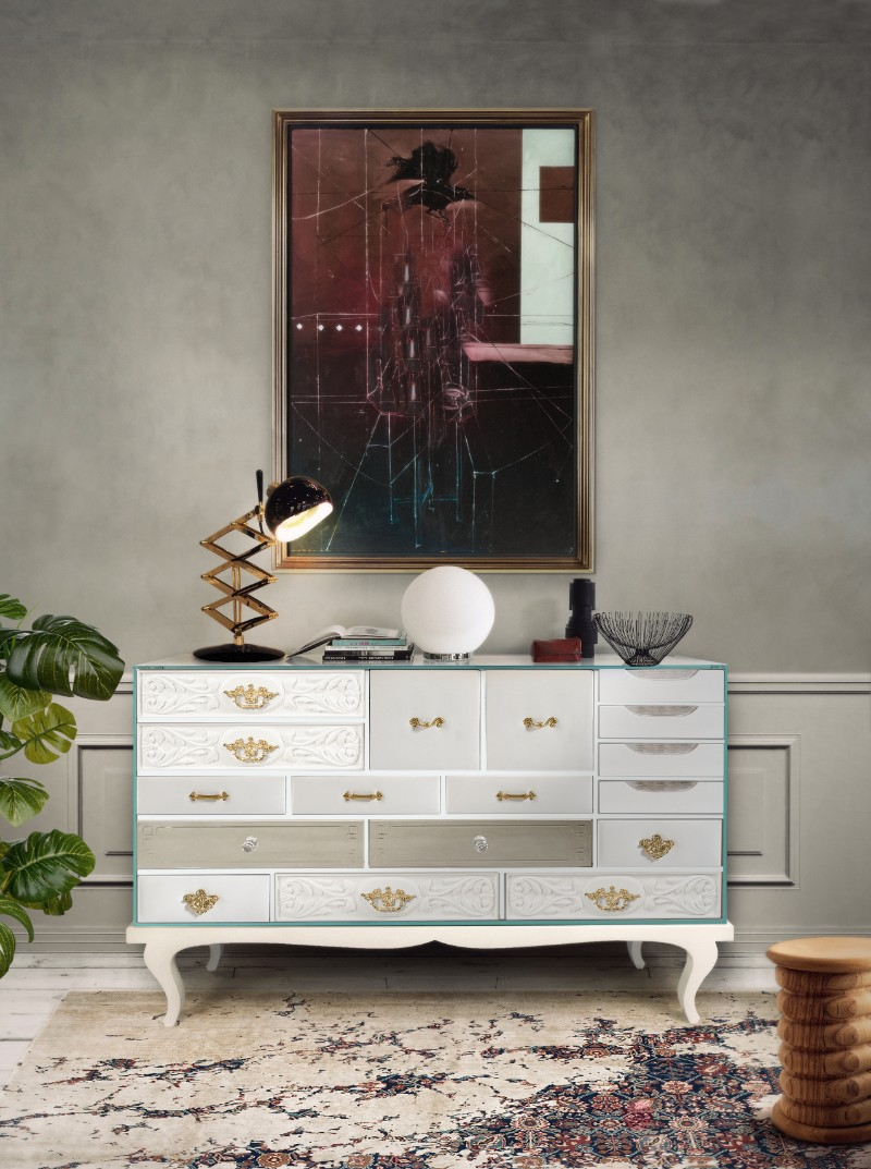 modern sideboard, buffets and cabinets, exclusive design, luxury brands, buffets and sideboards, living spaces, luxury interior design modern sideboard 10 Tips on How to Stylish your Modern Sideboard soho white bocadolobo