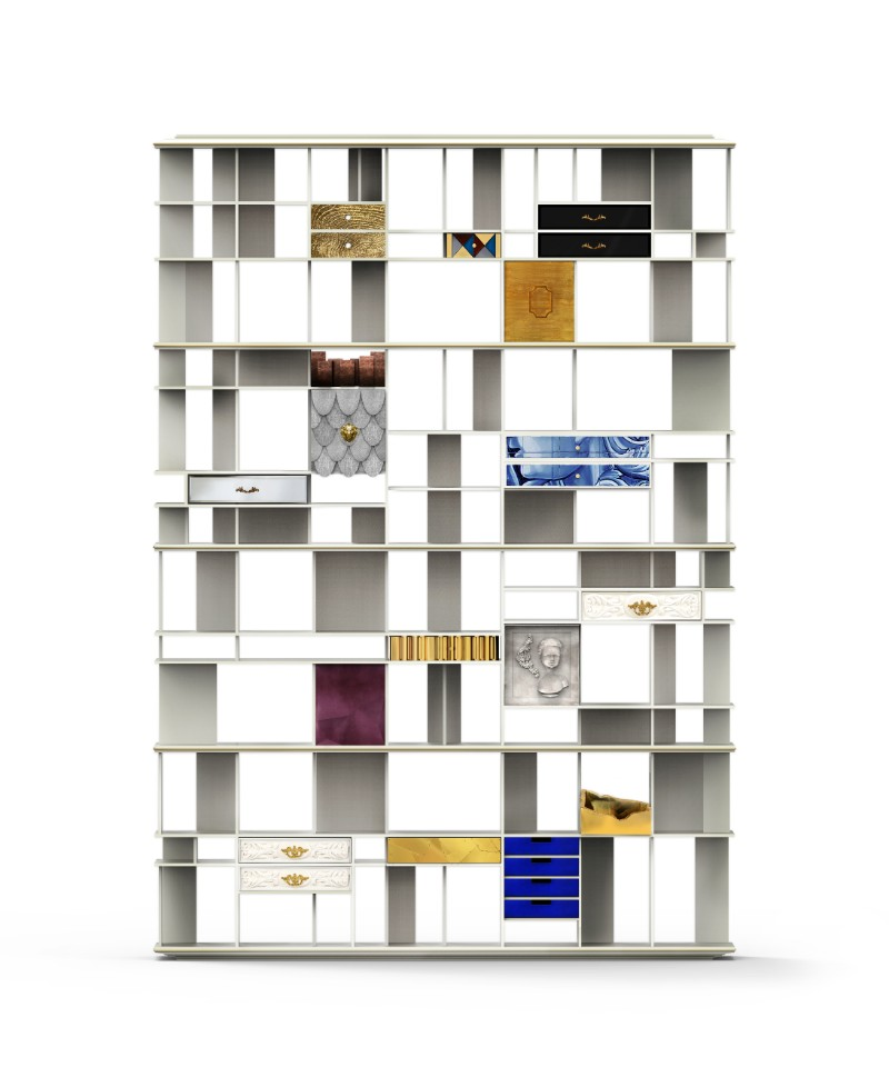 contemporary bookcases Discover Some Contemporary Bookcases By Luxury Brands Coleccionista Bookcase by Boca do Lobo 1