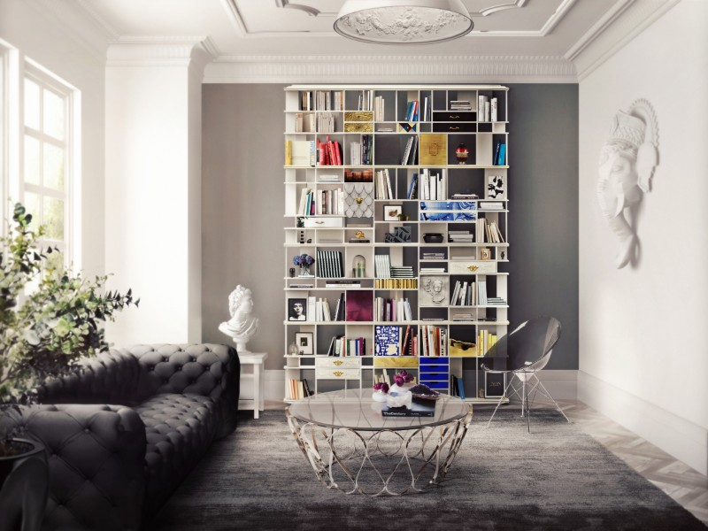 contemporary bookcases Discover Some Contemporary Bookcases By Luxury Brands Coleccionista Bookcase by Boca do Lobo 2