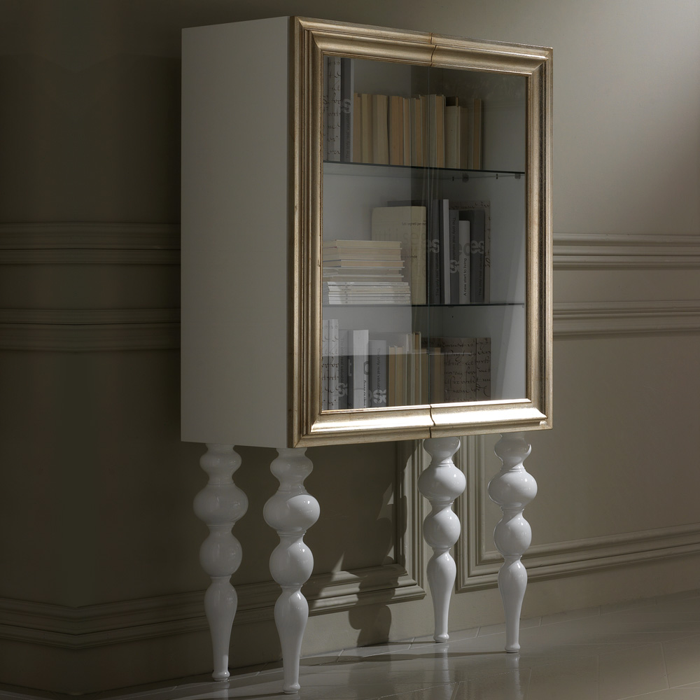 glass cabinets 10 Glass Cabinets For A Luxury Home Designer Champagne Leaf Italian Glass Display Cabinet 1