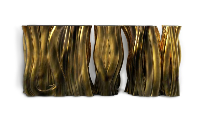 modern sideboards The Best Modern Sideboards For This Fall Season Monochrome Sideboard Gold by Boca do Lobo 1