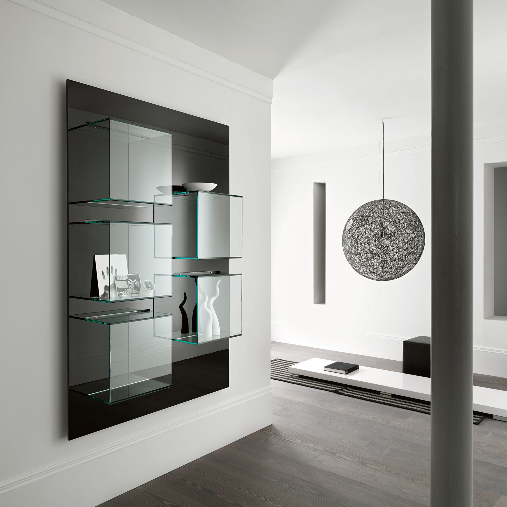 glass cabinets 10 Glass Cabinets For A Luxury Home dazibao wall units furniture 1 1
