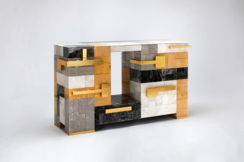 modern cabinets David Gill Gallery's Prime Selection of Buffets and Modern Cabinets MBChestHarlequin