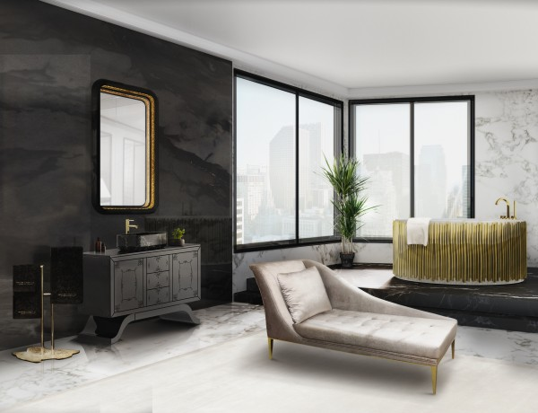 How to design a luxury bathroom with black cabinets 12 metropolitan washbasins ring mirror envy chaise long symphony bathtub maison valentina 1 HR 600x460