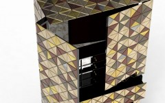 metal cabinet Metal Cabinet Design – PIXEL ANODIZED by Boca do Lobo pixel adonized 05 240x150
