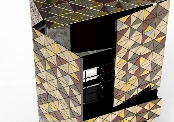 metal cabinet Metal Cabinet Design – PIXEL ANODIZED by Boca do Lobo pixel adonized 05 600x419