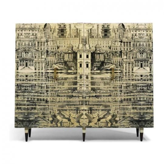 PIERO FORNASETTI CABINET DESIGN PIERO FORNASETTI DESIGN antique cabinets 5 Antique Cabinets For Your Classic Kitchen PIERO FORNASETTI DESIGN