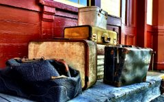 Creative Designs Creative Designs – Cabinets Made From Suitcases 1 vintage man with old luggage at train station ryan jorgensen 240x150