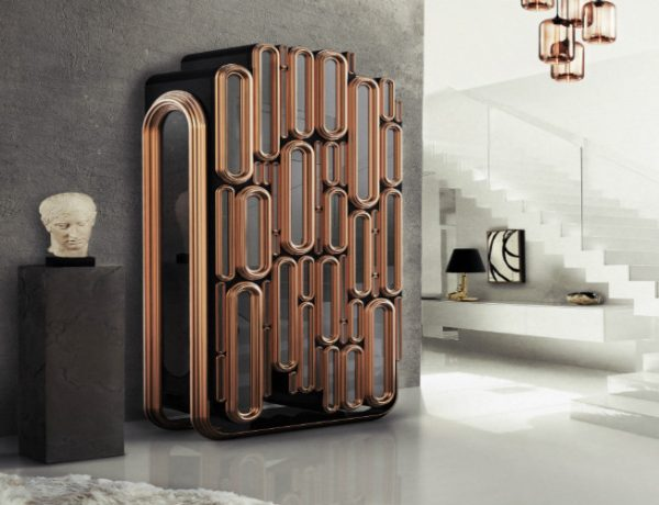 bar cabinet Creative Metal Bar Cabinet Design by Boca do Lobo Featured Image 1 600x460