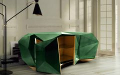 Contemporary cabinet Diamond Emerald Contemporary Cabinet by Boca do Lobo diamond emerald 07 240x150