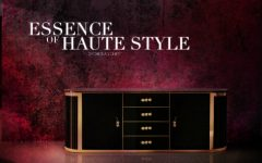 modern interiors Luxury Gold and Black Buffets and Cabinets for Modern Interiors orchidea chest 240x150