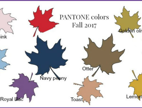 pantone colors Discover the Pantone Colors for this Fall pantonefall17 600x455