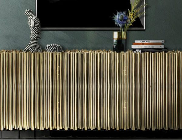 2018 trends 2018 Trends: The Return of Brass with Amazing Sideboards 000 600x460