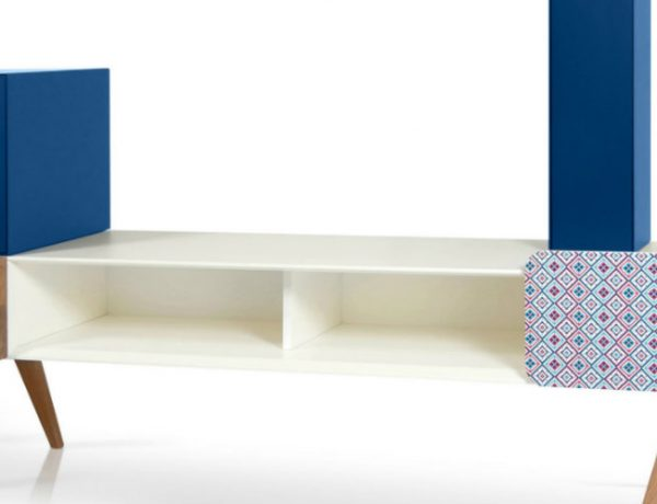 tv cabinet Best Furniture: Colorful Tv Cabinet by Sotiris Lazou 000 10 600x460