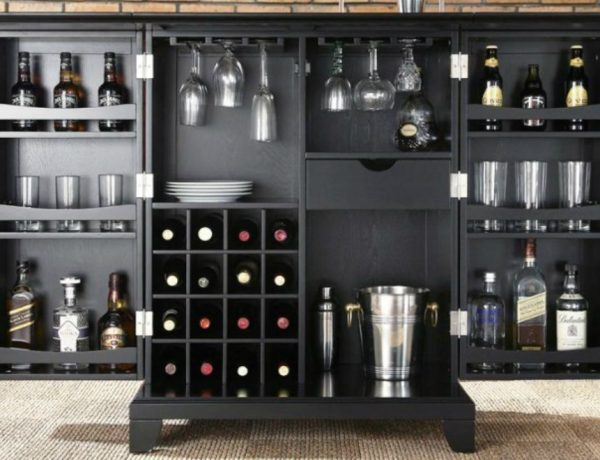 bar cabinet Stunning Bar Cabinets for True Gentlemen Stunning Bar Cabinets for True Gentleman   s 600x460