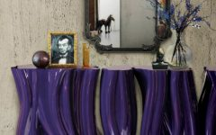 modern sideboard 10 Tips on How to Stylish your Modern Sideboard monochrome purple featured 240x150