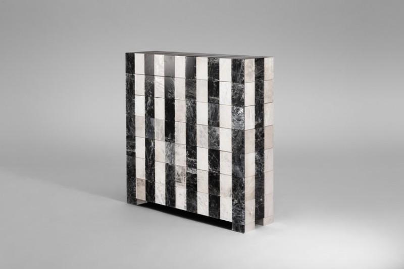 modern cabinets Get Amazed with Mattia Bonetti's Best Modern Cabinets Stripe Cabinet