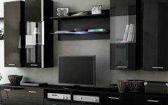 black cabinets Attach Sophistication To Your Living Room With Elegant Black Cabinets featured 4 240x150