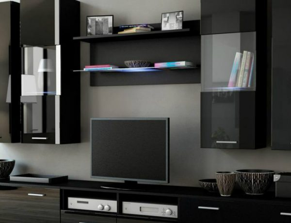 black cabinets Attach Sophistication To Your Living Room With Elegant Black Cabinets featured 4 600x460