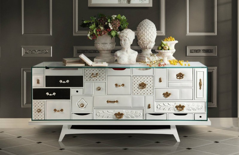 buffets and sideboards Modern Buffets and Sideboards of Neutral Color 1 3
