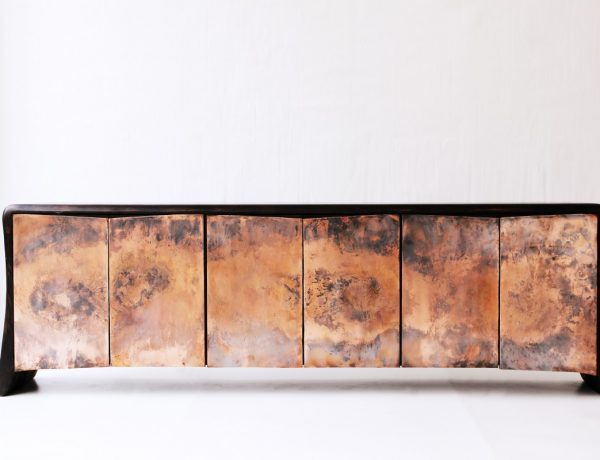 unique design Unique Design – Discover the Luxury Cabinets From Galerie Gosserez V  Loellmann Copper Buffet in copper and charred walnut 41000 0 2000 2000 600x460