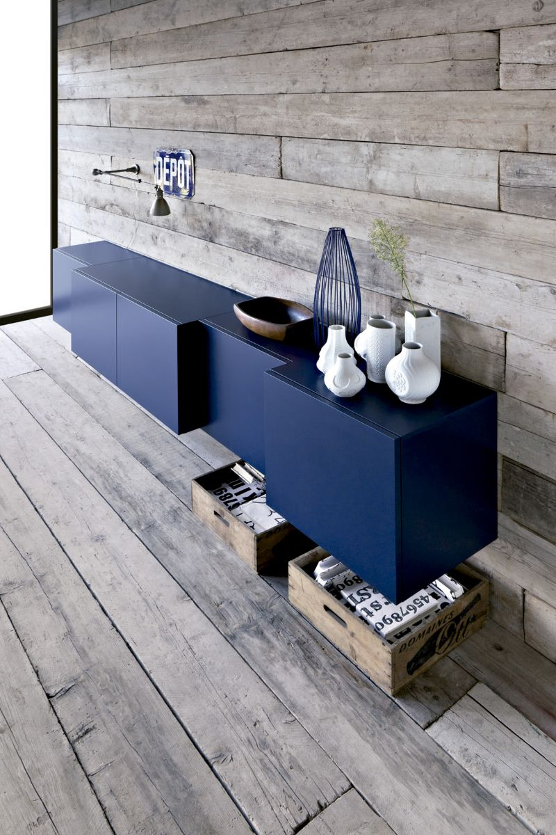 modern cabinets Blue is the New Black: Modern Cabinets with A Unique Design 14 15 Sideboard Inspirations For A Contemporary Design