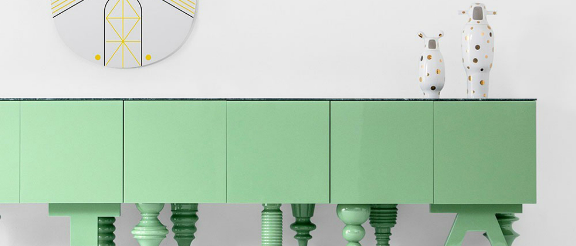 Jaime Hayon's Monochromatic Modern Cabinets