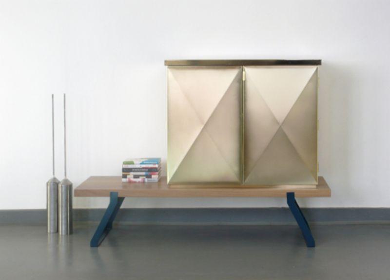 Sebastian Herkner's Iridescent Modern Cabinets